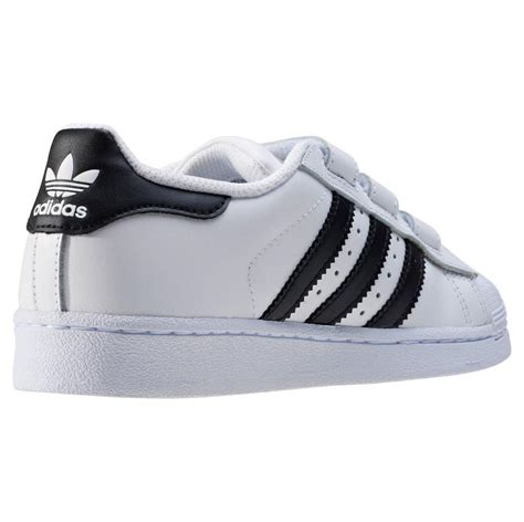 summer 2018 adidas superstar foundation toddler trainers in white black branded shoes