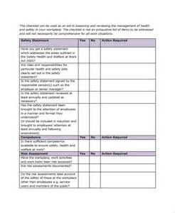workplace safety templates sle checklist template 50 free documents in