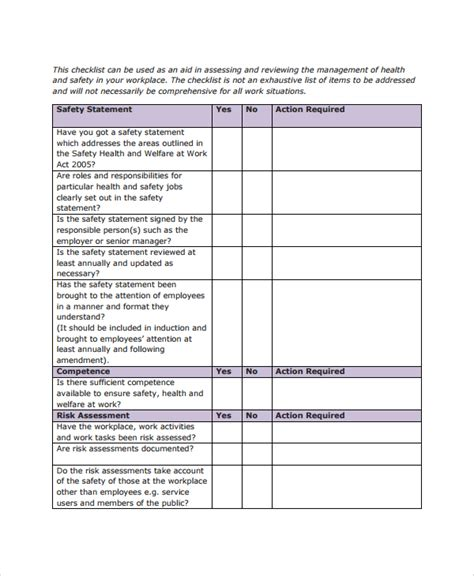 sle checklist template 50 free documents download in