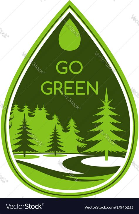 Green Eco Tree Ecology Environment Icon Royalty Free Vector Green Eco Tree Vector Free