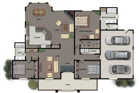 housing blueprints floor plans house plans