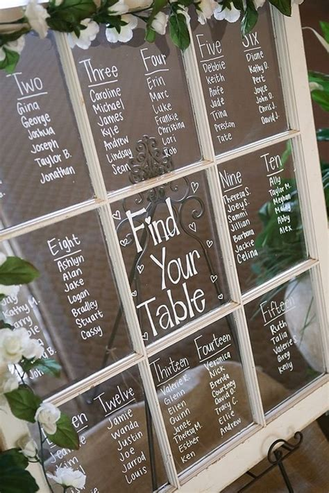 trending wedding seating chart display ideas
