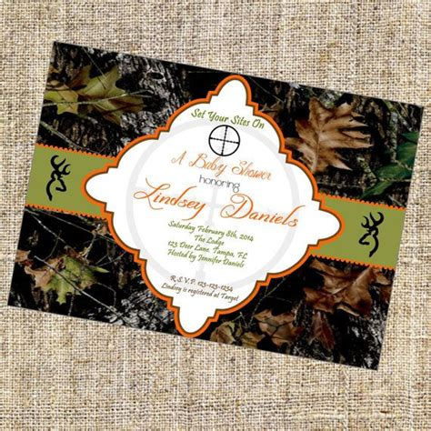 Mossy Oak Baby Shower Invitations by Best 25 Camo Baby Showers Ideas On