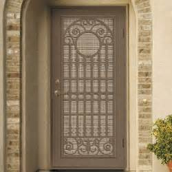 unique security screen doors for homes with detailed iron