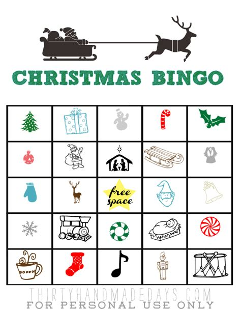 printable christmas bingo cards black and white holiday entertaining