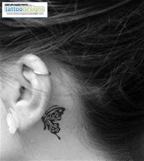 tattoo behind ear butterfly ear tattoo images designs