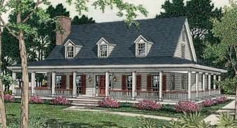 One Story House Plans With Porches Home Country Decor One Story House Plans One Story