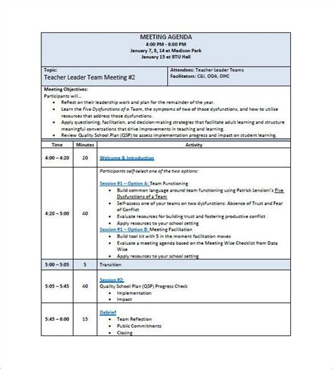 sample project meeting minutes template 10 free documents in