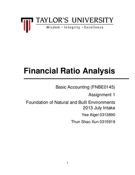 financial project report sle financial statement analysis sle report 28 images 11