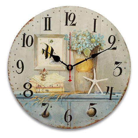 34cm vintage wall clocks antique flavour kitchen retro style shabby chic home cafe decor alex nld
