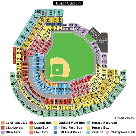 stl stadium seating chart st louis cardinals seating chart busch stadium