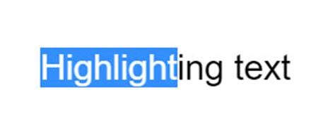 css highlight color highlighting text in color using html and css