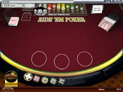 free let it ride table play let it ride table from rival for free