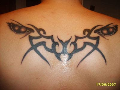 butterfly tattoo on buttocks awesome tribal ideas for back tattoomagz