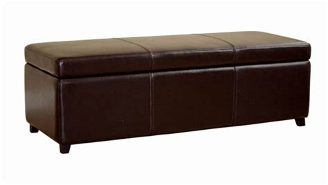 Storage Ottomans And Benches Baxton Studio Leather Storage And Bench Ottomans
