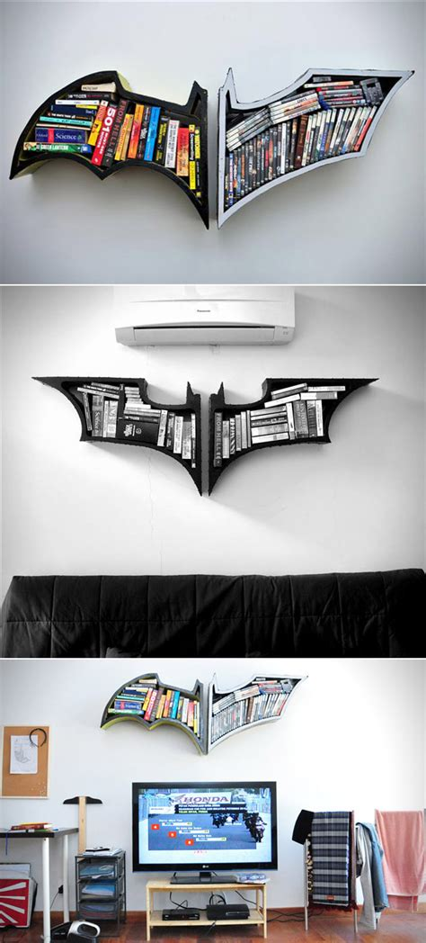 what batman s bookshelf would look like and 20 more cool