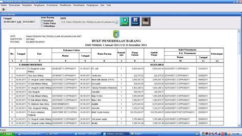 contoh laporan gudang sistem informasi manajemen barang daerah proposal