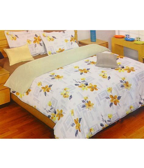 bombay dyeing bed sheets bombay dyeing floral white bed sheets buy bombay dyeing