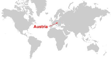 austria on the world map austria map and satellite image