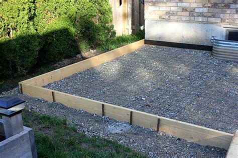 project backyard prepping for a concrete pad brittany
