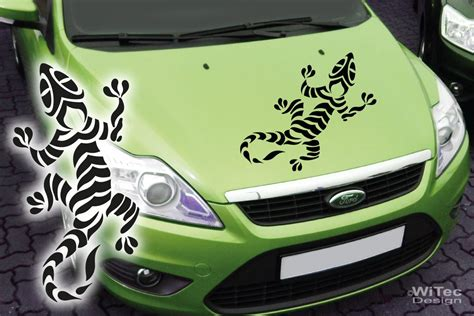 Aufkleber Auto Gecko by Aa142 Gekko Gecko Echse Tribal Tattoo Auto Aufkleber