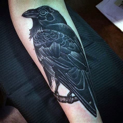 raven sleeve tattoo designs 100 designs for scavenge sooty bird ink