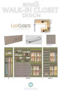 Closet Layout Small Walk In Closet Design Easyclosets Simplified