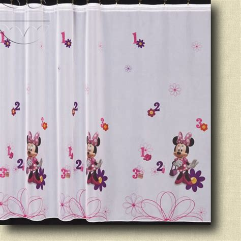 minnie mouse curtains disney s minnie mouse voile net curtain ebay