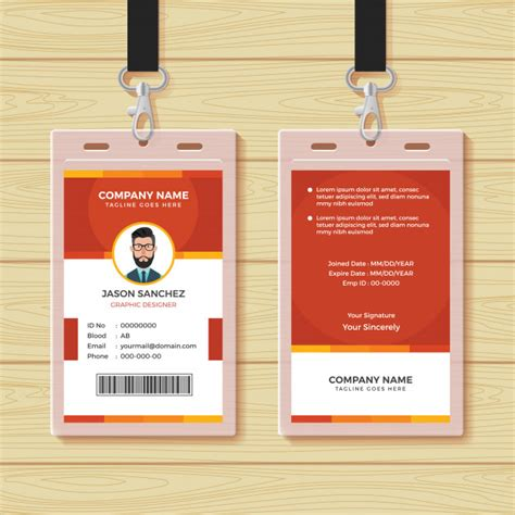 Id Card Template Freepik by Employee Id Card Design Template Vector Premium