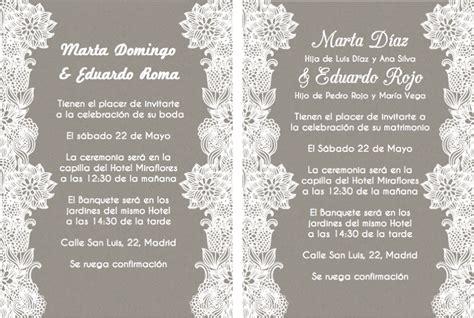 textos para las invitaciones de matrimonio invitaciones de boda y texto para invitaciones de boda la