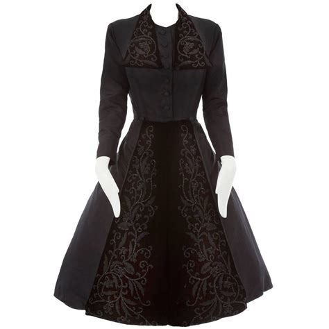 My For The Sweater Dress Couture In The City Fashion by Haute Couture Black Silk Taffeta Dress Coat Autumn