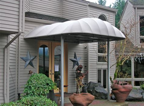pikes awnings curved entryway awning traditional entry portland by pike awning company