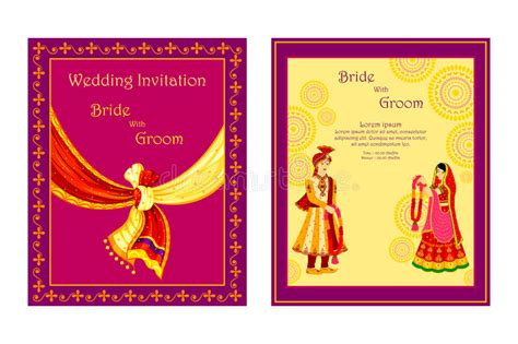 free indian marriage invitation card design 2 indian wedding invitation card stock vector illustration of greeting concept 48581700