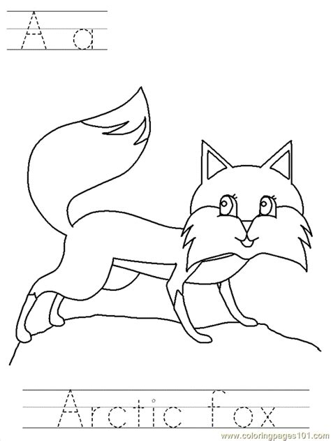 free coloring pages of arctic fox mask