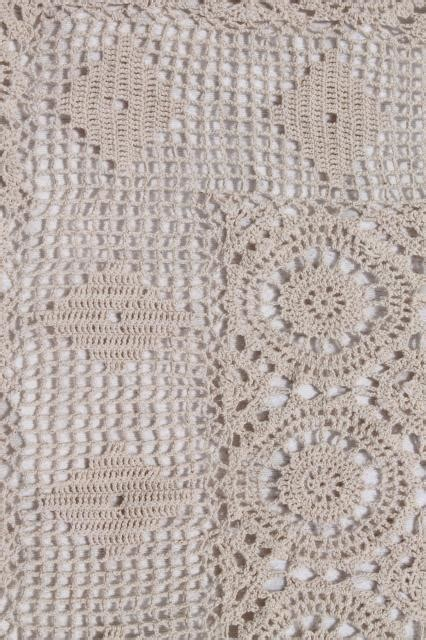 pattern of vintage crochet lace in an ecru color handmade crochet lace bedspread shabby chic vintage