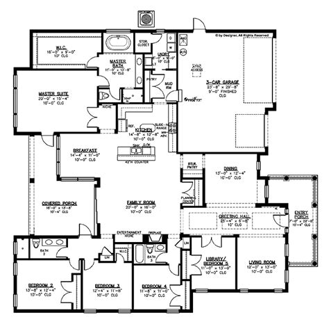House Plans With Big Bedrooms | big house plans smalltowndjs com
