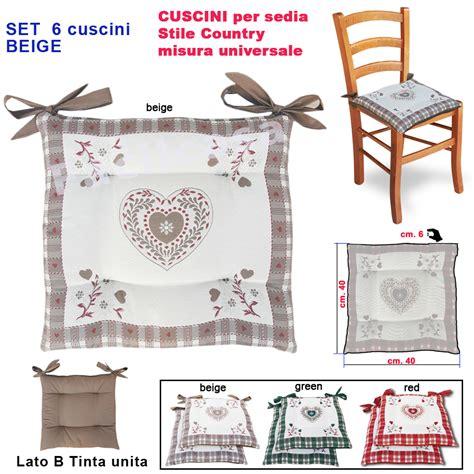 stoffa per cuscini cuscini per sedie beige 6 cuscino per sedia coprisedia
