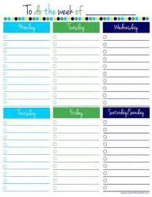 weekly to do list template free printable to do lists colorful templates