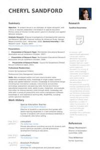 Special Education Assistant Sle Resume by Special Education Resume Sles Visualcv Resume Sles Database