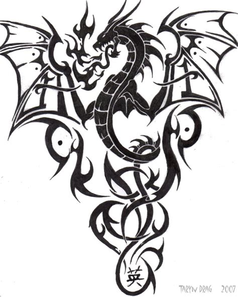 tribal chinese dragon tattoos tattoos tribal ideas top styles