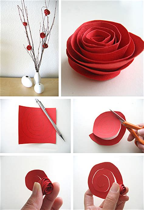 How To Make Handmade Flowers From Paper - how to make paper fabric flowers
