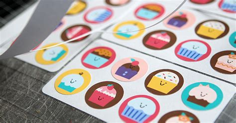 How To Make Stickers Out Of Paper - a cherry tree cupcake stringbeans stickers plus