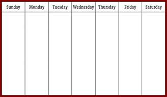 week by week calendar template weekly calendar pdf printable 2017 calendars