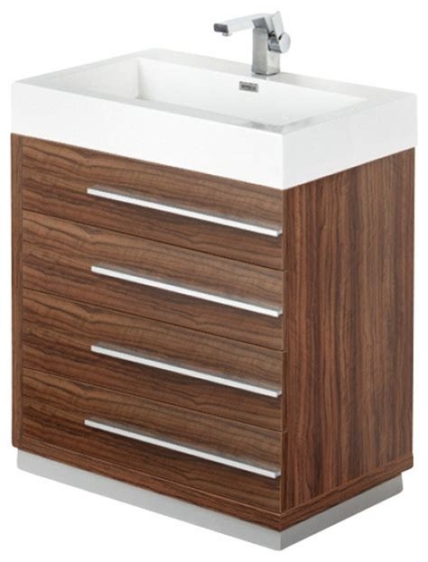 30 inch walnut modern bathroom vanity contemporary