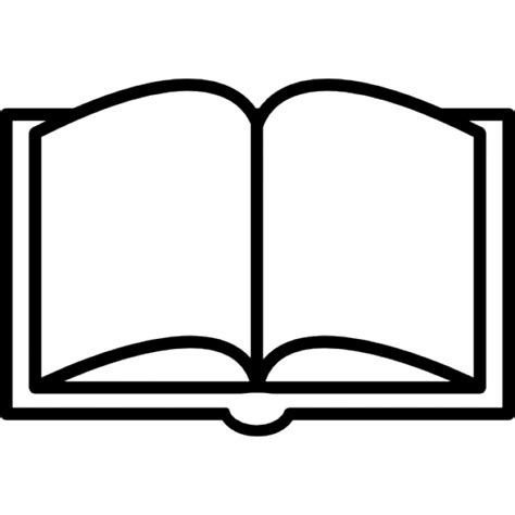 Outline Of A Open Book by Book Opened Outline From Top View Icons Free