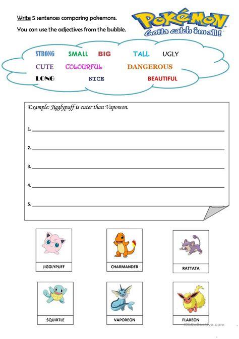 printable pokemon activity sheets english worksheet colours of pokemon free printable