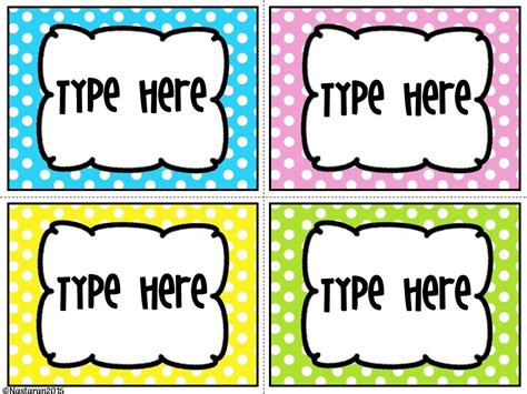 12 images of black and white large polka dot label template