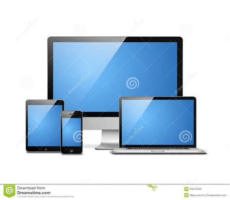 desktop mobile laptop tablet desktop mobile stock photo image of touch