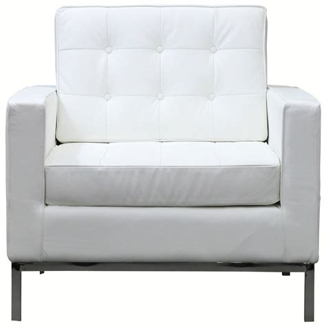 White Modern Couches by Bateman Leather Armchair Living Room Decor White