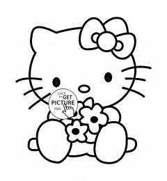 kitty coloring kids girls coloring pages printables free wuppsy
